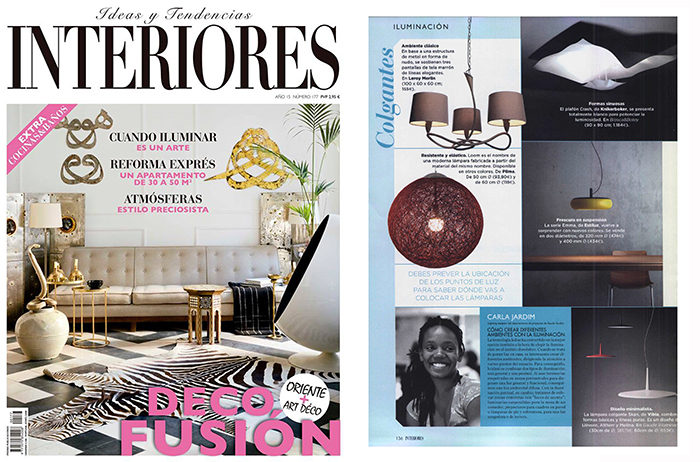 Biosca botey appears on interiores magazine for Revista interiores ideas y tendencias