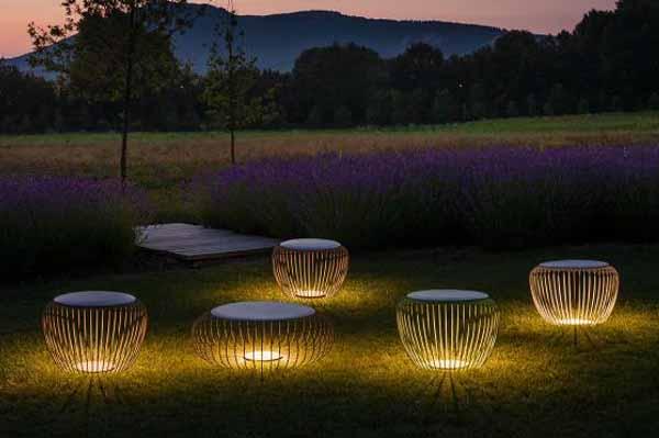 Lamparas de diseño para iluminación exterior